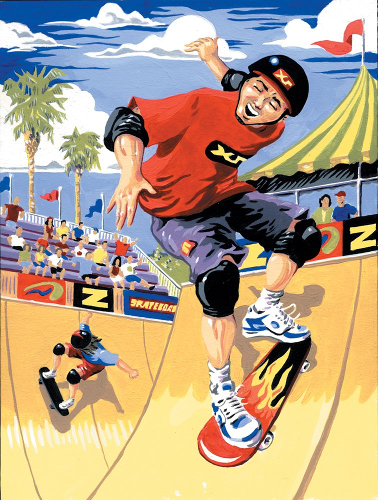 Royal /& Langnickel Painting by Numbers A4 Size Skateboarder Designed Painting Set