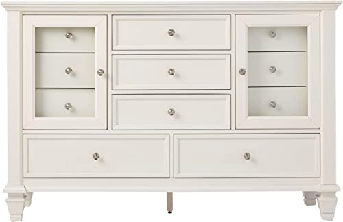 Sandy Beach 11-Drawer Dresser White