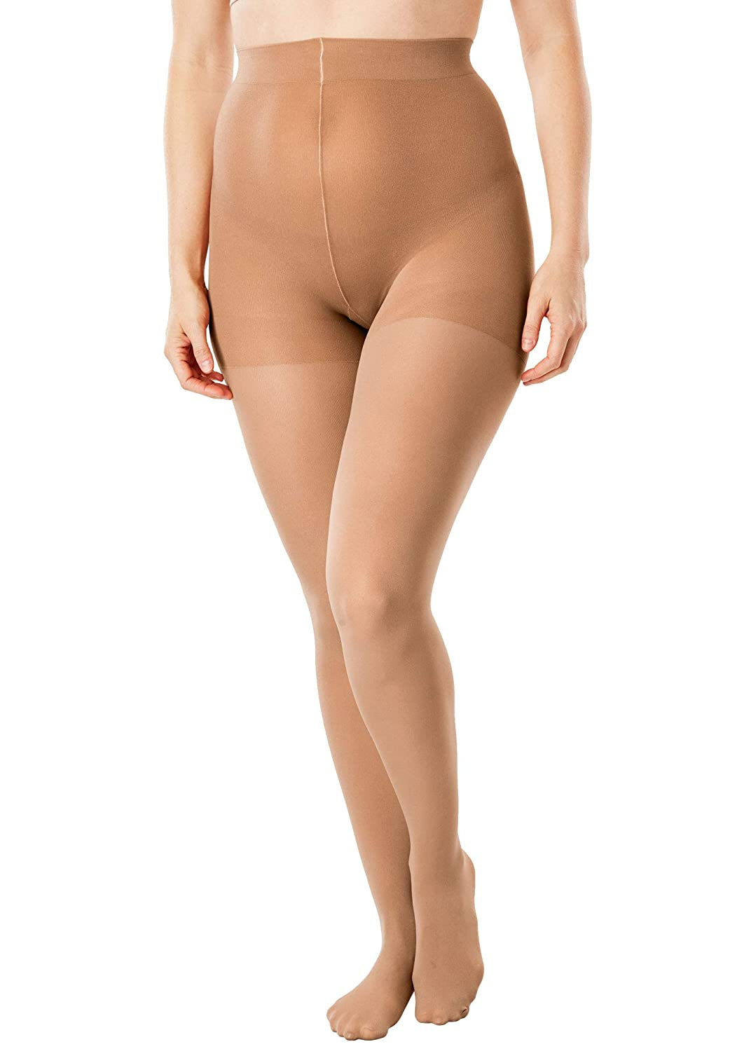 Comfort Choice Womens Plus Size 2-Pack Semi-Sheer Tights