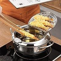 Frituurpan met afdruiprek, roestvrijstalen frituurpan, Tempura frituurpan, temperatuurregeling, frituurpan…