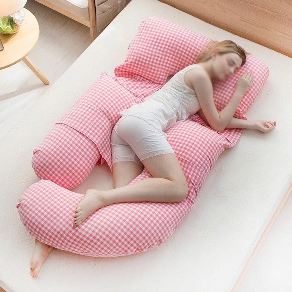 Geometric pregnant women sleeping side sleeper waist-side sleeping pillow / pregnant women pillows / belly pillow / pillow / maternity supplies ( Color : D )