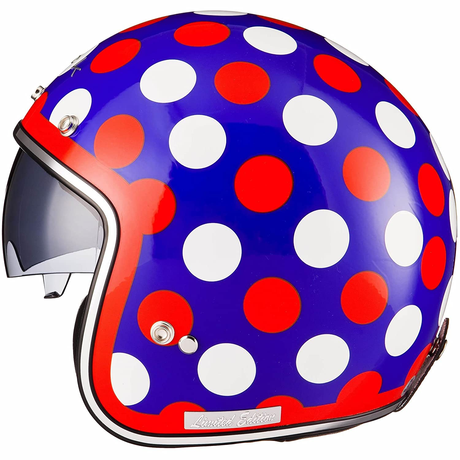 Black Limited Edition Dot Open Face Helmet
