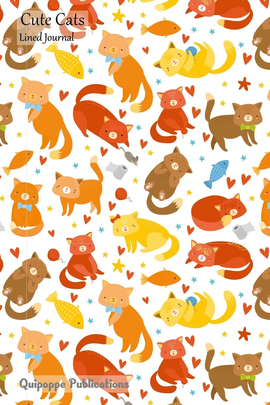 Download Cute Cats Lined Journal: Medium College Ruled Notebook With Naughty Cats Pattern Cover PDF