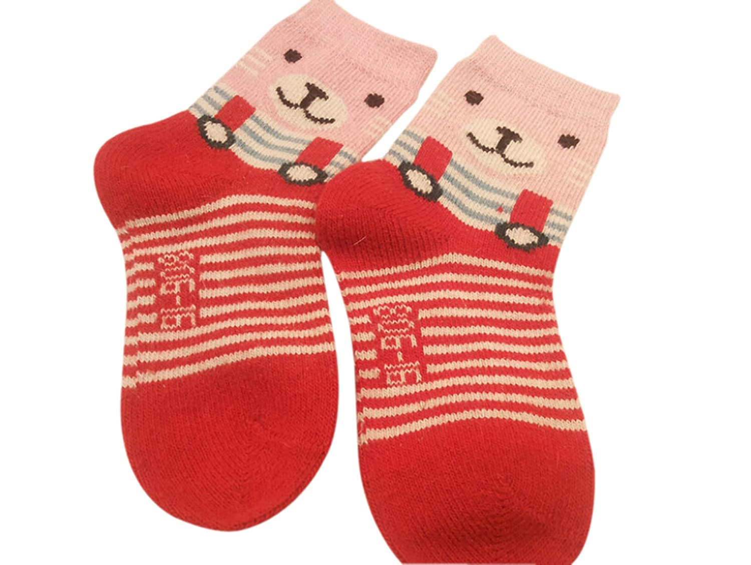 Easting Unisex Child's Knit Warm Rabbit Hair Wool Socks 5 Pairs