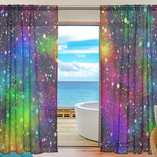 ANINILY Abstract Universe Nebula Night Starry Sky Rainbow Colors 55x84x2