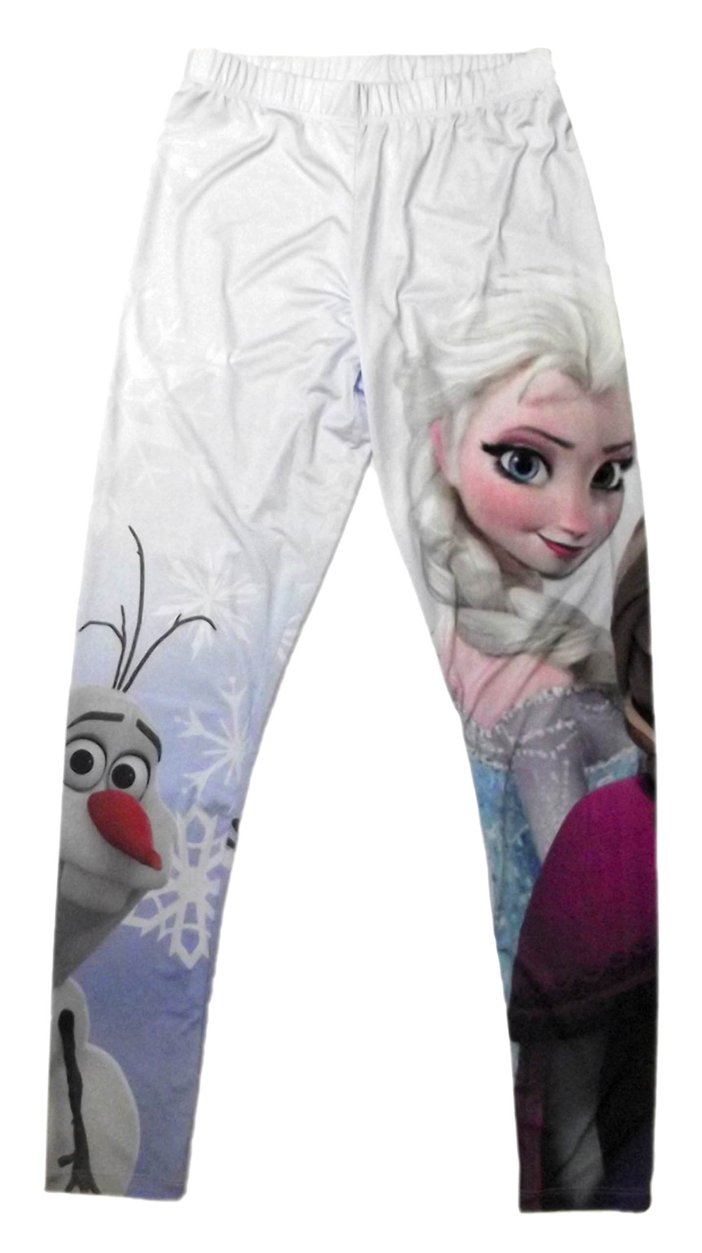 Mighty Fine Disney Frozen Elsa, Anna, & Olaf Juniors Leggings (Large)