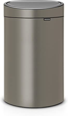 Brabantia Poubelle Touch Bin 40 Litres Platine Capacite 40