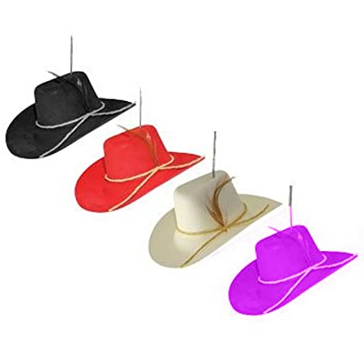 ALAZCO Cowboy Hat Cowgirl Western Air Freshener for Car Auto Truck Choose Color and Scent (Red (Cologne)): Automotive
