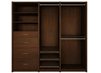 Amazon.com: ClosetMaid 6106140 Spacecreations Wood Closet Organizer Kit,  52 Inch To 87 Inch, Premier Dark Java: Home U0026 Kitchen