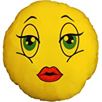 Atmyhome Girl's Kissing Pout Smileys Pillow Cushions/Gifts ( 14 Inch )