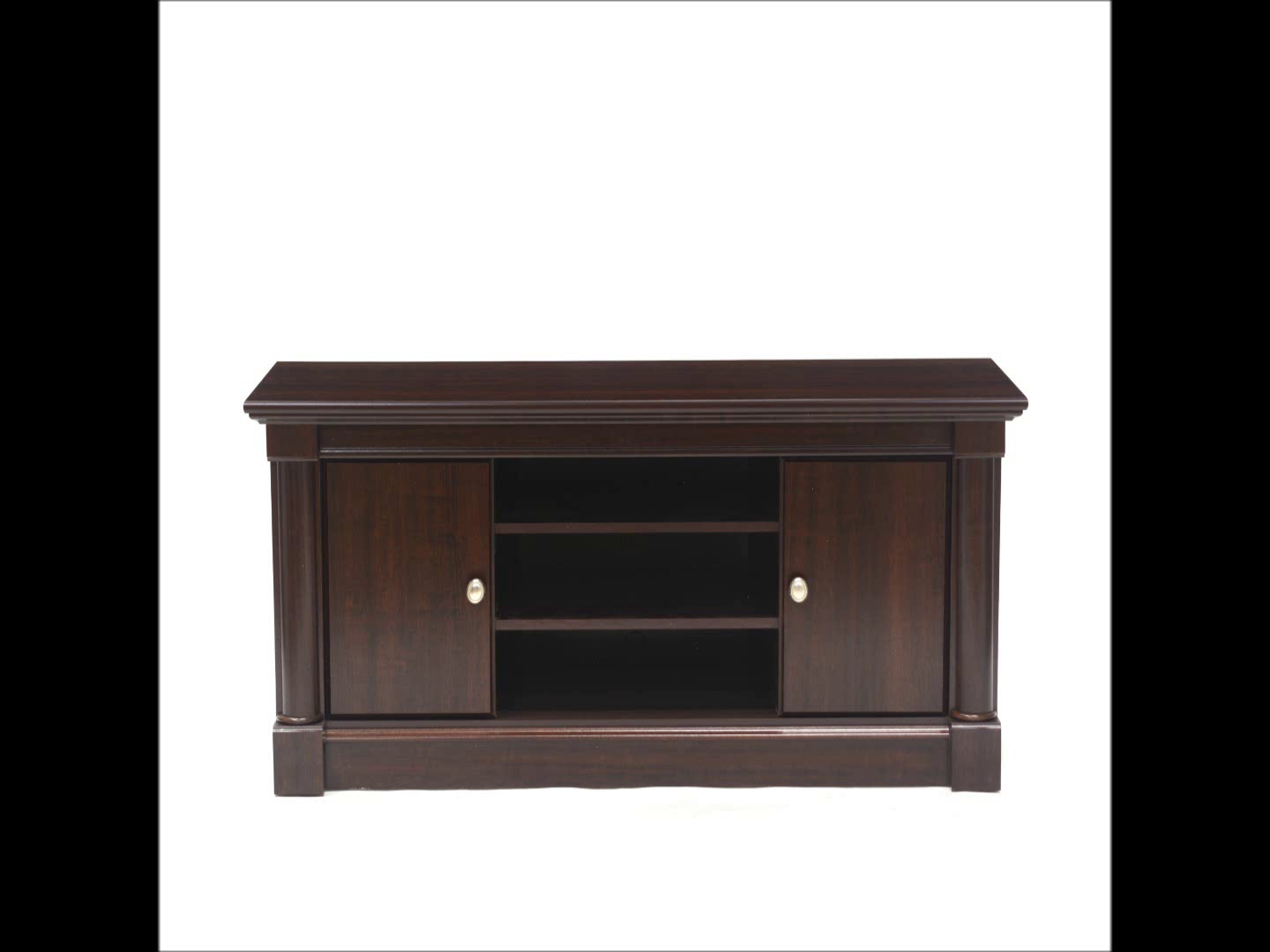 Sauder Palladia Panel Tv Stand Select Cherry Finish