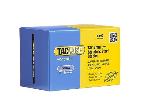 Amazon.com: Tacwise 1228 73 x 12 mm. acero inoxidable grapas ...