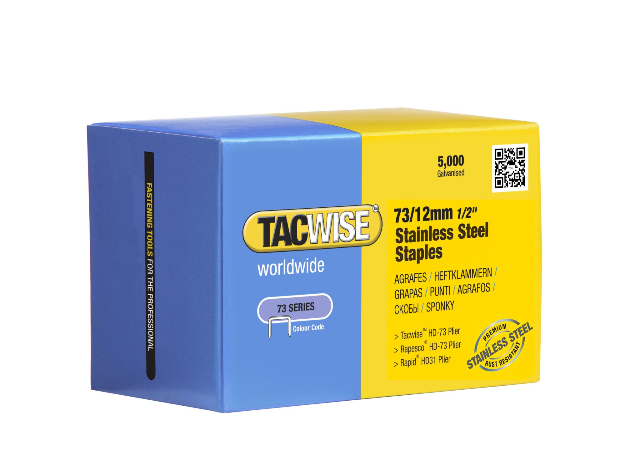 Tacwise 1228 73 x 12 mm Stainless Steel Staples for Stapling Pliers (5000-Piece) by