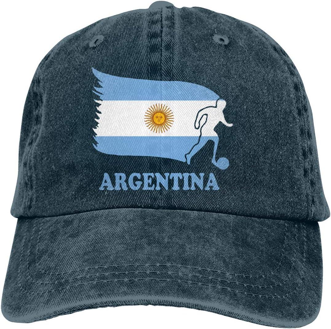 KLing Baseball Cap for Unisex Argentina Football Soccer Flag Fashion Cotton