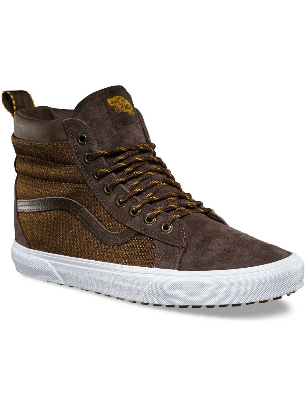 Vans Men's SK8-Hi MTE Trainers, Brown, 10 US