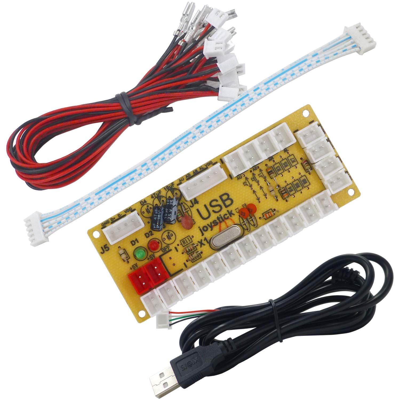 Amazon.com: SJ@JX Arcade USB Encoder Fight Stick Raspberry Pi Joystick Button PC MAME Retro Pie Zero Delay USB 5V Encoder Board: Toys & Games