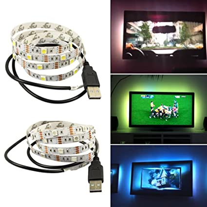 Amazon 1m usb power supply led strip tape tv background 1m usb power supply led strip tape tv background lighting diy decorative lamp camping lights bicycle aloadofball Image collections