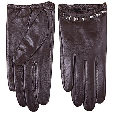 f83b55a7c WARMEN Women's Gloves brown Size: 6.5 UK: Amazon.co.uk: Shoes & Bags