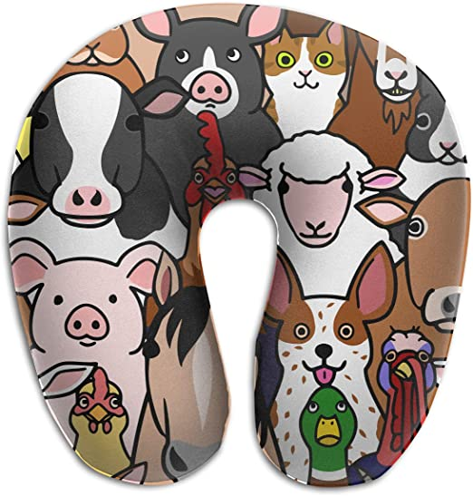 Amazon Com Xikewl Doodle Farm Animals Faces Portable Memory