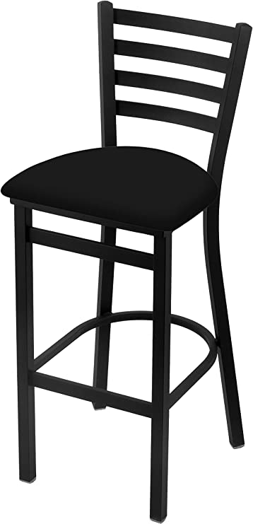 Amazon Com 400 25 Stationary Counter Stool With Black Wrinkle Finish And Black Vinyl Seat Sports Outdoors
