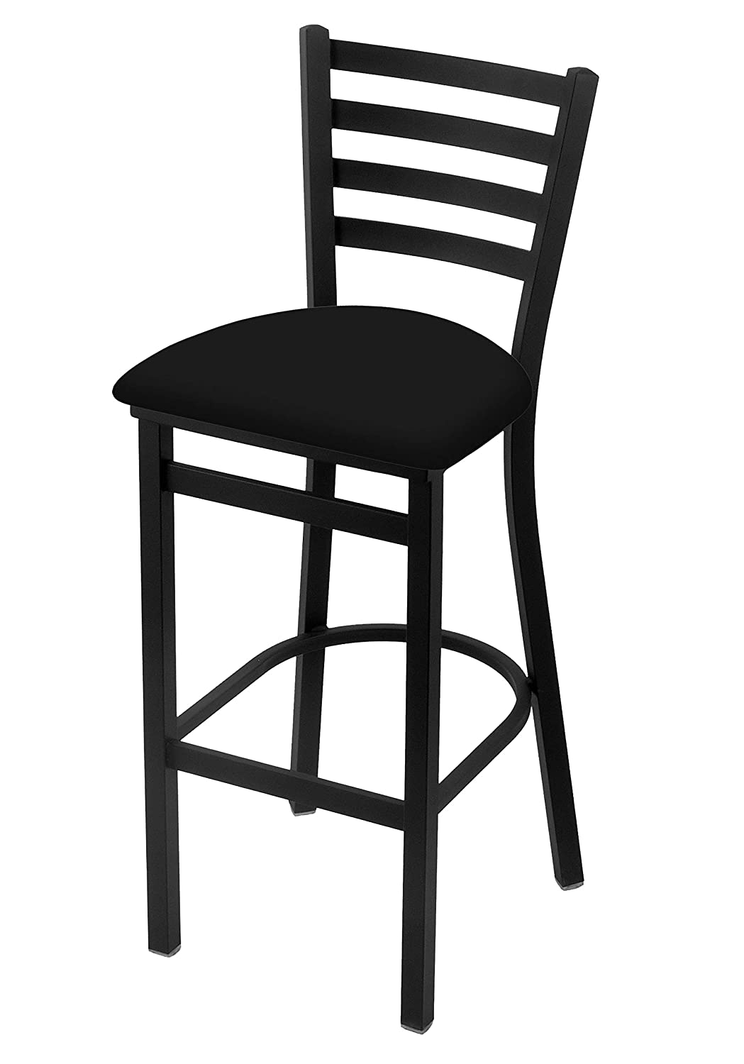 400 25 Stationary Counter Stool with Black Wrinkle Finish and Black Vinyl Seat