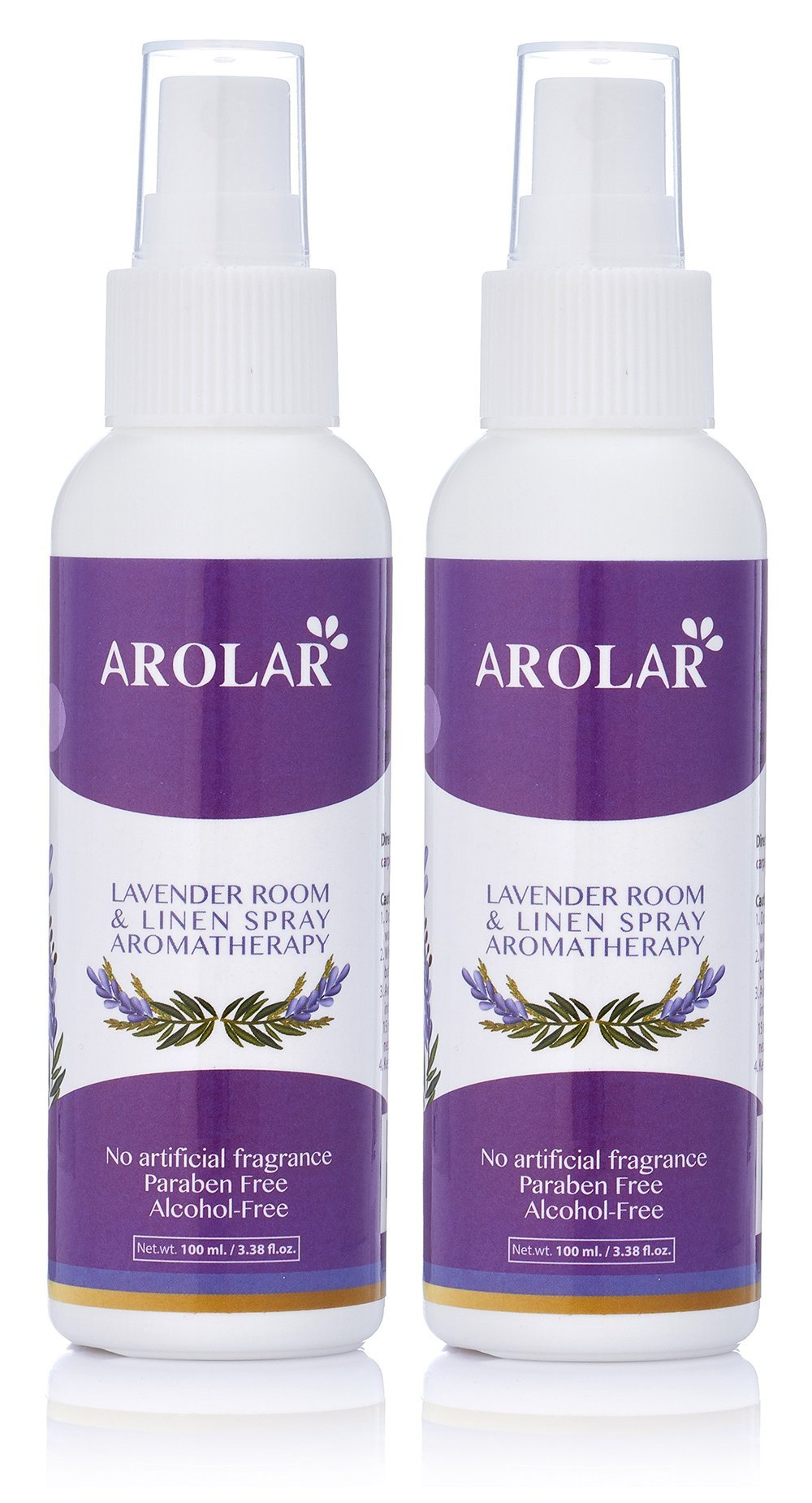 Lavender Room And Linen Spray - Natural Aromatherapy Mist & Beds Fresh Floral Spray For Relaxing Atmosphere, Room Air Freshener & Odor Eliminator - Prue Essential Oils, 3.38 Ounce Bottle, (Pack of 2)