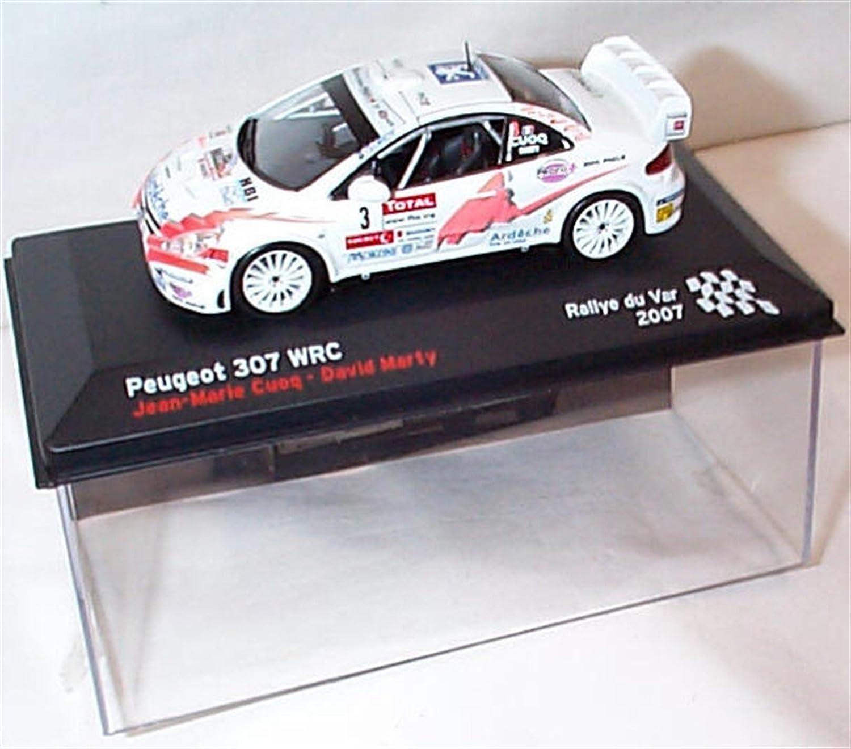 ixo white no3プジョー307 WRC 2007車1.43スケールダイキャストモデル