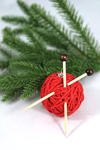 Image Unavailable - Amazon.com: Red Yarn Ball Christmas Ornament Gift For Knitters