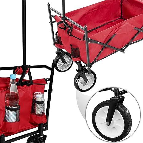 TecTake Carro de Mano Plegable con Techo carretillade Transporte para Utensilios Azul (Rojo | No. 401082): Amazon.es: Juguetes y juegos