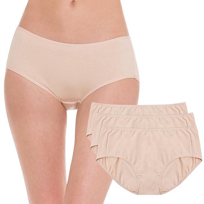 e90bedc6de4 HESTA algodón orgánico período sanitaria Menstrual Protective Calzones ropa  interior 3pack
