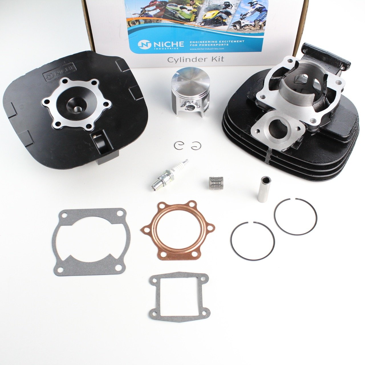 NICHE Cylinder Piston Gasket Cylinder Head Kit for Yamaha Blaster 200 YFS200 1988-2006