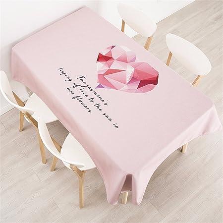 140 * 220 cm color rosa corazón Nordic estilo ins Instagram mantel ...