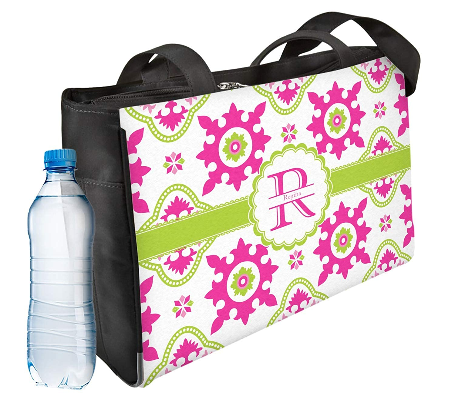 Personalized Suzani Floral Ladies Workout Bag Front