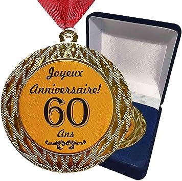 Médaille Cadeau Danniversaire 60 Ans Joyeux Anniversaire