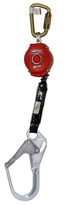 Miller TurboLite 6-Foot Personal Fall Limiter with Unit End Steel Carabiner & Lanyard End Steel Locking Rebar Hook (MFL-2-Z7/6FT)