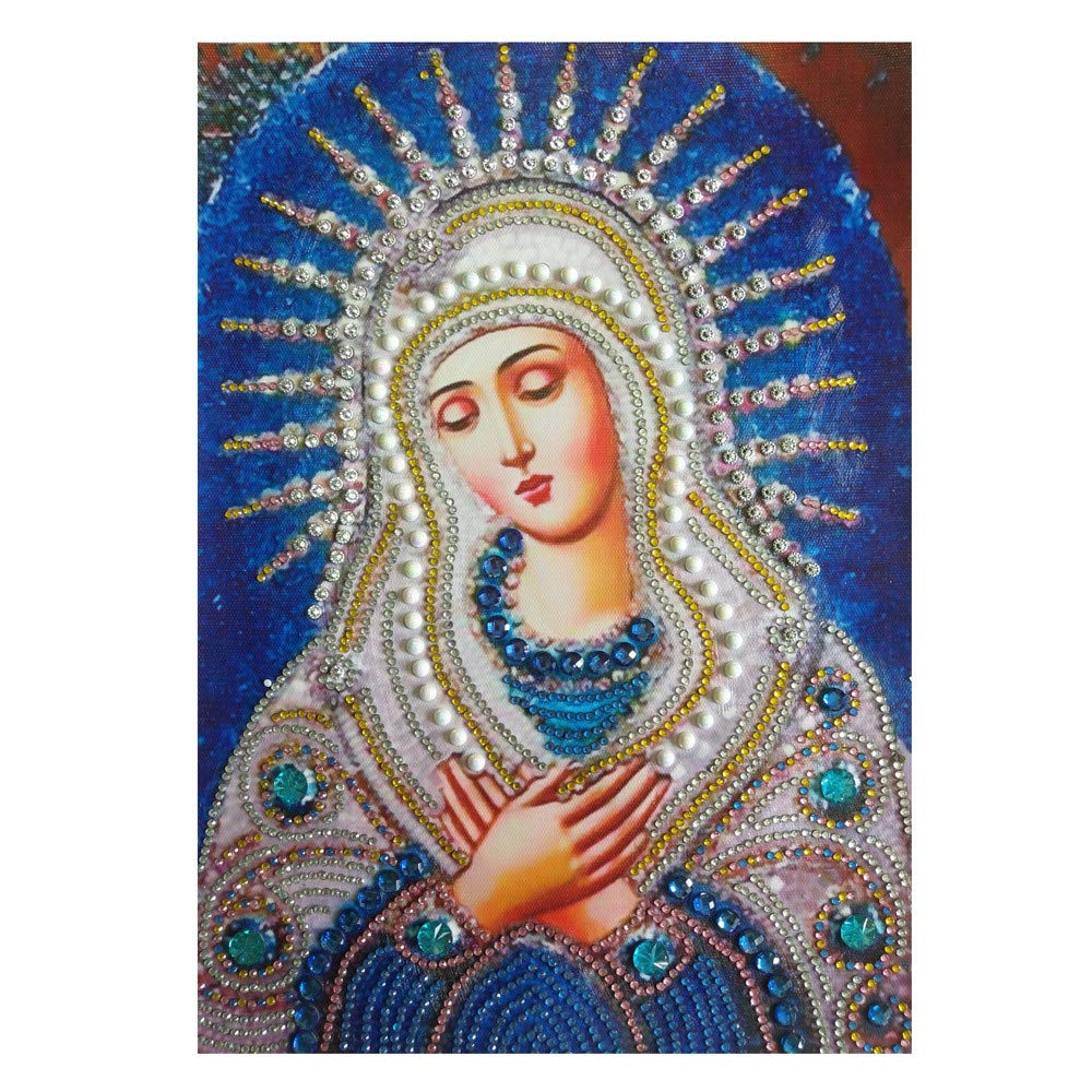 Special Shaped Diamond Painting Madonna - Franterd DIY 5D Partial Drill Cross Stitch Kits Crystal Rhinestone of Picture Diamond Embroidery Mosaic Arts Craft Home Wall Decor by Franterd Home Decor (Image #4)