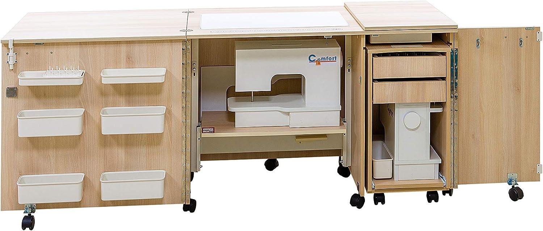Comfort 4 | Mueble para máquina de coser | (Premium White, M (Air ...