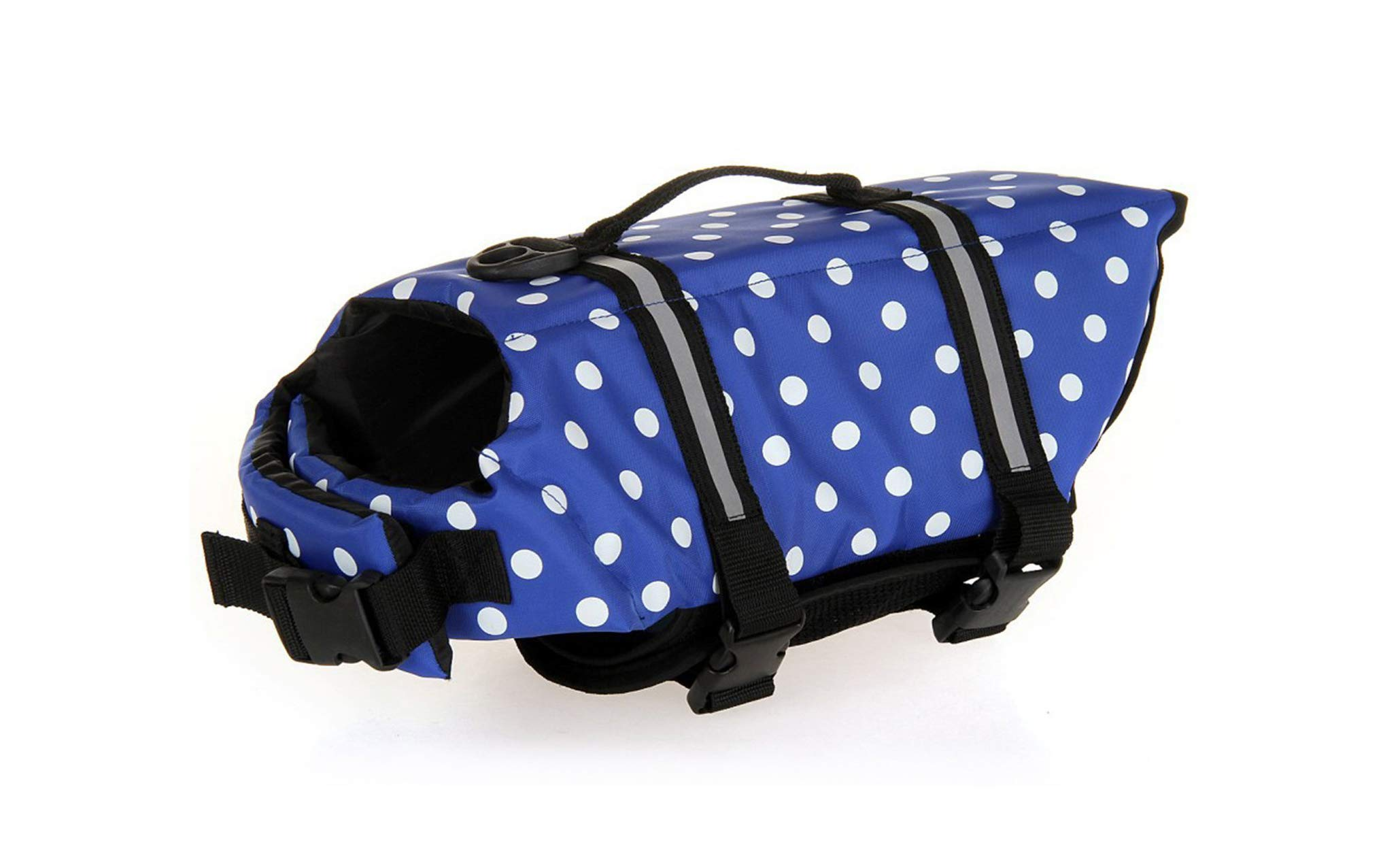 GabeFish Dog Life Jacket Vest Safety Clothes Collar Harness Saver Pet Swimming Preserver Reflective Strip Swimwear