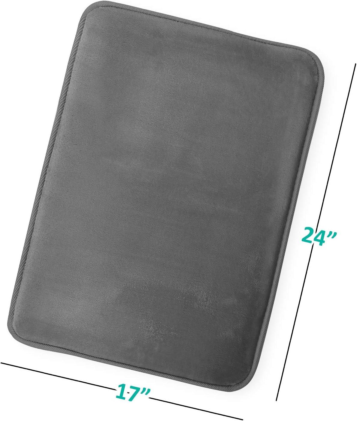 Clara Clark Antiscivolo Memory Foam tub-Shower Tappeto da Bagno 2 Pack Small Aqua Light Blue Nero