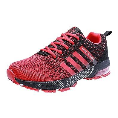 7602b4a84b34d3 Laufschuhe Damen Turnschuhe Herren Running Shoes Joggingschuhe Air Sohle  Sneaker Trekking 36 Rot