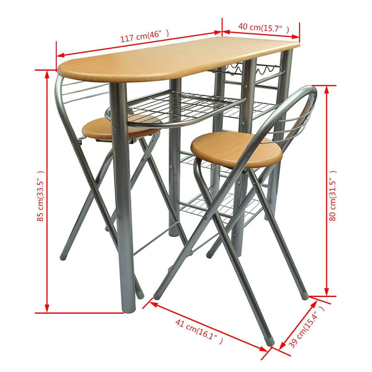 Cocina/ Bar de desayuno / Set de mesa y sillas Madera: Amazon.es: Hogar