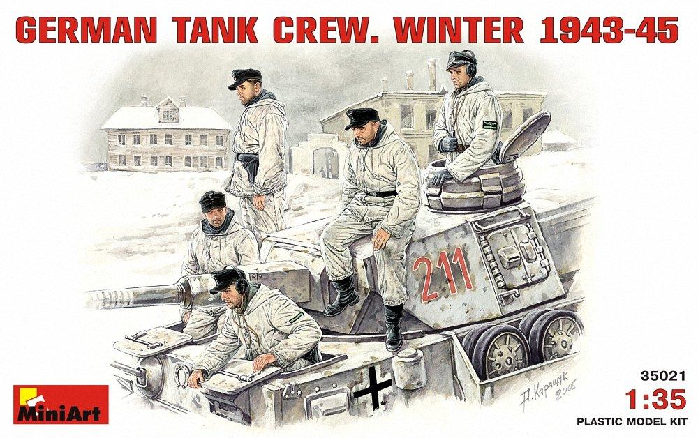 ミニアート 1/35 ドイツ戦車兵 防寒服1943-1945 フィギュアセット5体入 MA35021 プラモデル B000X4OUB8