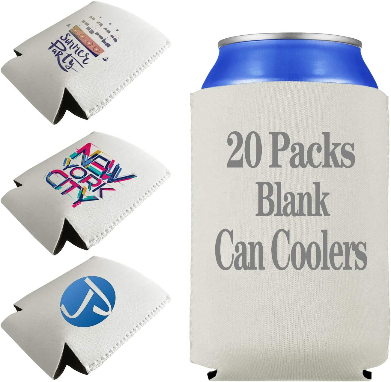 Mixed Can Cooler White-Black  Koozie Blank Lot 50 Sublimation Wedding Supplies