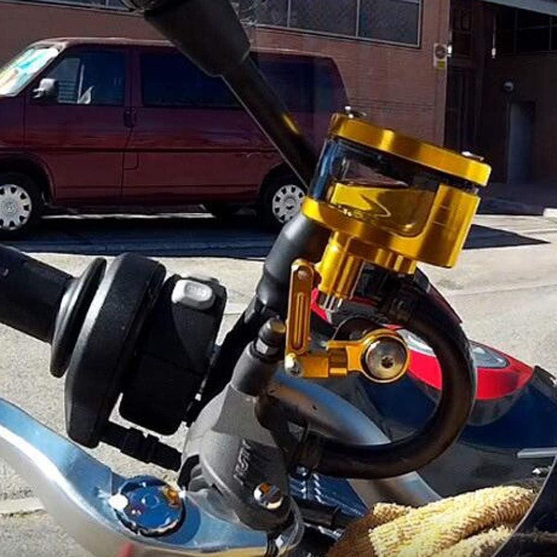 Lefossi Yellow Universal Motorcycle Foot Rear Brake Master Cylinder Tank Oil Cup Fluid Bottle Reservoir