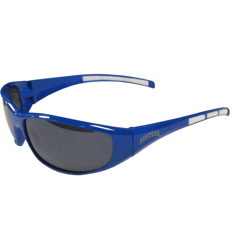 MLB Milwaukee Brewers 3-Dot Wrap Sunglasses