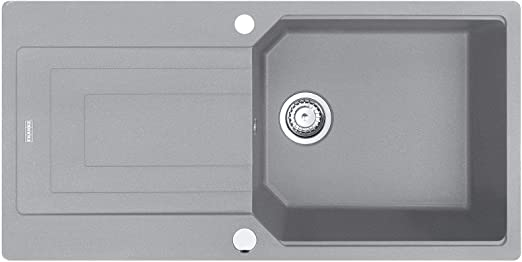 Franke Urban UBG 611-100 Steingrau 11943 Granitsp/üle Exzenterbet/ätigung