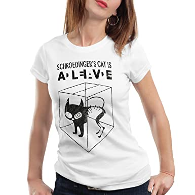 Style3 Chat De Schrodinger T Shirt Femme Amazon Fr Vetements Et