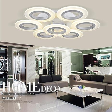 Luz LED de techo modernas lámparas de techo de cristal ...