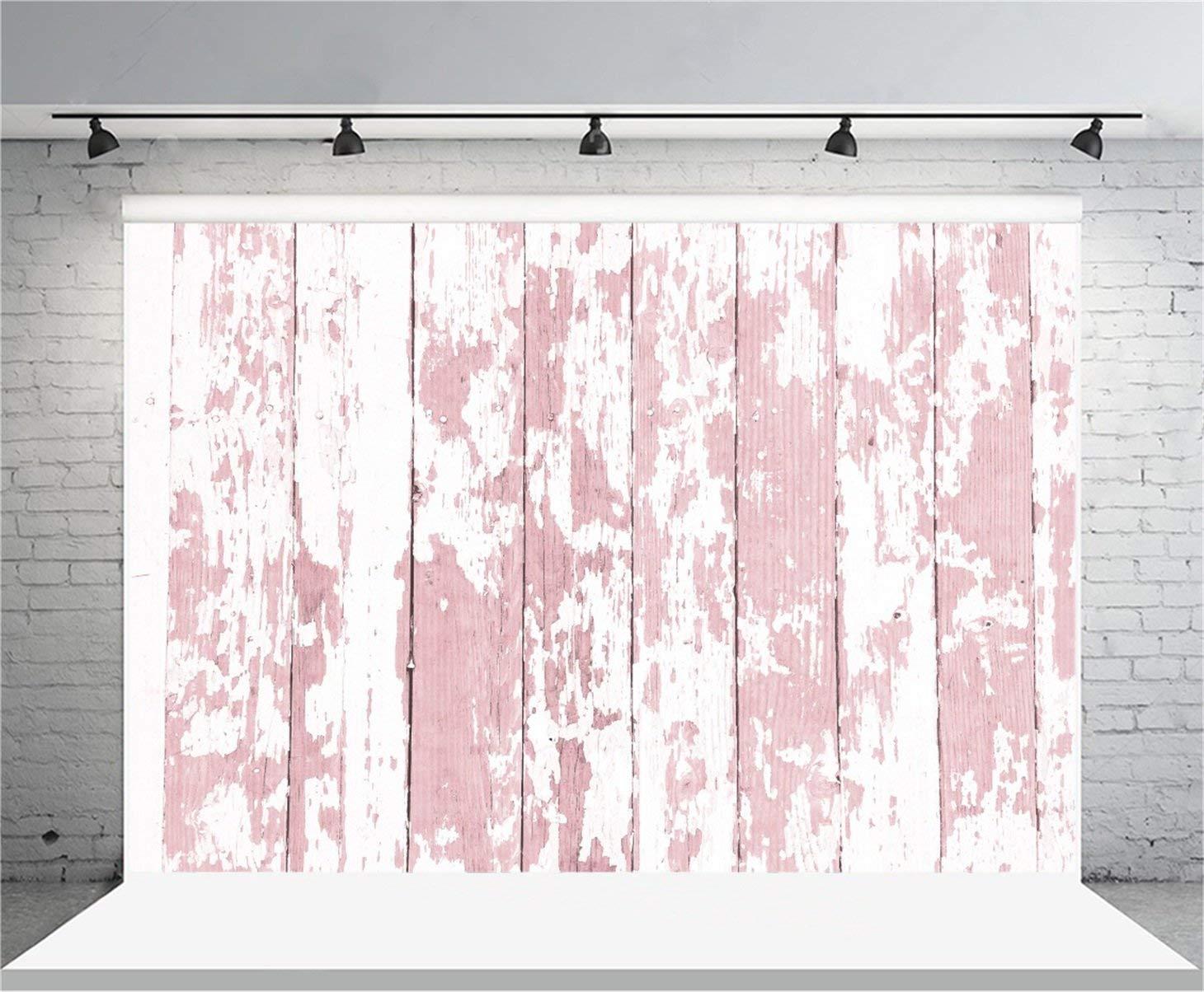 AOFOTO 7x5ft Grunge Wooden Plank Photography Background Vintage Shabby Peeling Painted Wood Board Backdrop Kid Girl Boy Adult Baby Artistic Portrait Photoshoot Studio Props Video Drape Wallpaper