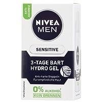 Nivea Men Sensitive 3-Tage Bart Hydro Gel im 1er Pack (1 x 50 ml), Gesichtspflege und  Bartpflege beruhigt nach der Rasur, Bartcreme gegen harte Stoppeln